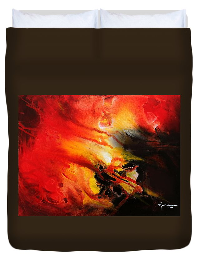Shooting Star Duvet Cover featuring the painting Shooting Star by Kume Bryant