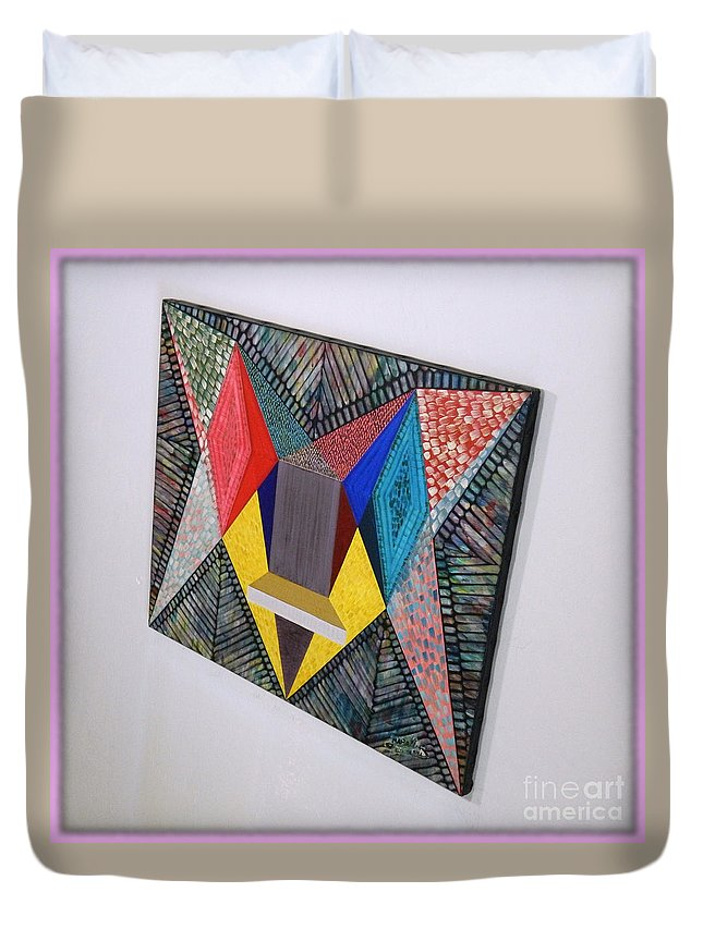 Spirituality Duvet Cover featuring the painting Shot Shift - Parmi 2 by Michael Bellon
