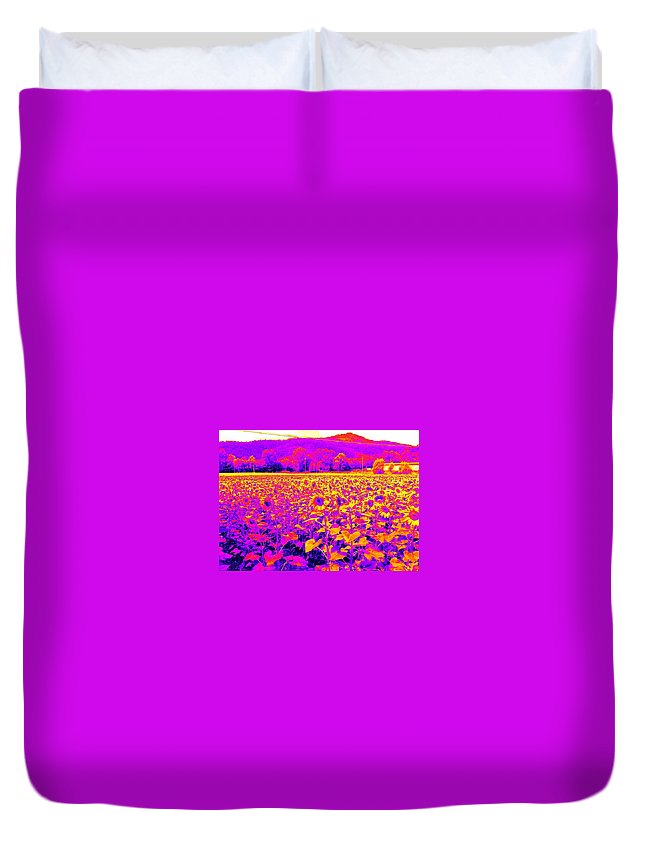 Agriculture Photographs Duvet Cover featuring the painting Showtime by Nikki Keep