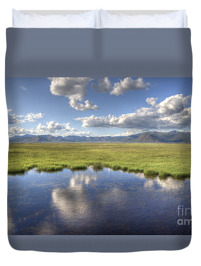 Wetlands Duvet Cover featuring the photograph Sierra Valley Wetlands II by Dianne Phelps