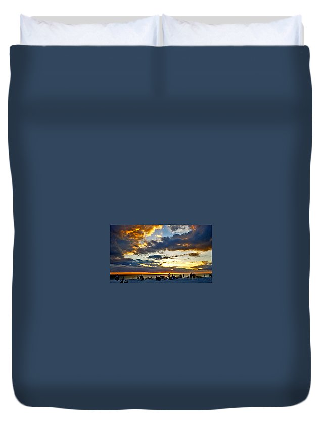 Sunset Duvet Cover featuring the photograph Siesta Sunset by Norman Johnson