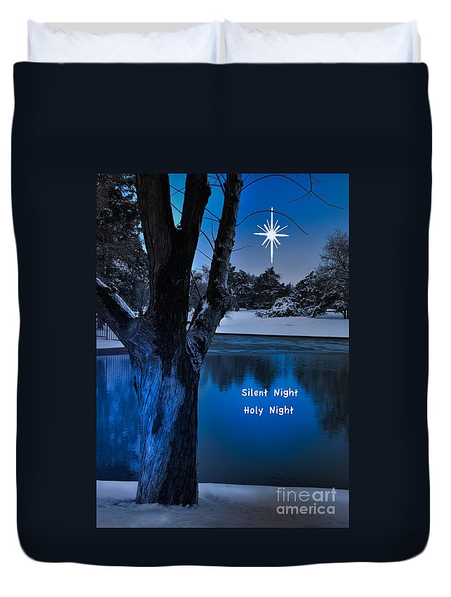 Landscape Duvet Cover featuring the photograph Silent Night by Betty LaRue