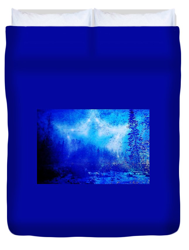 Abstract Duvet Cover featuring the photograph Silent Night by Ellen Heaverlo