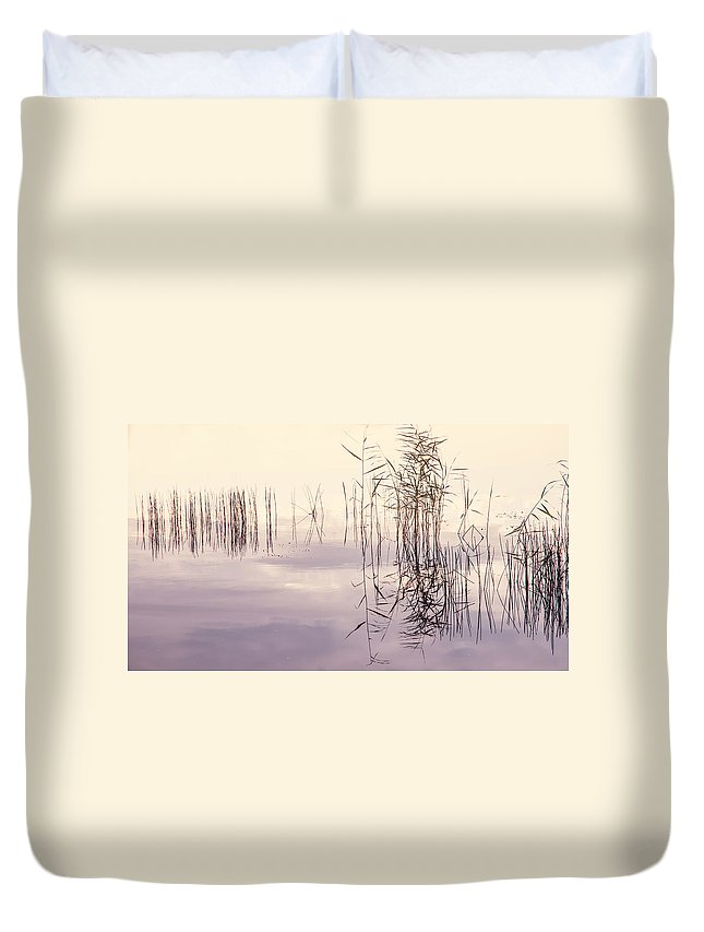 Nature Duvet Cover featuring the photograph Silent Rhapsody. Sacred Music by Jenny Rainbow