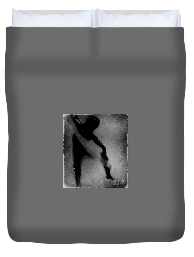 Black Duvet Cover featuring the photograph Silhouette Of An Oddity by Jessica Shelton
