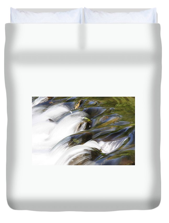 Water Duvet Cover featuring the photograph Silky Cascade by Jean Macaluso