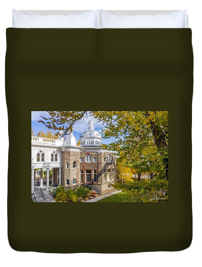 Autumn Duvet Cover featuring the photograph Silver State Autumn by Jens Peermann