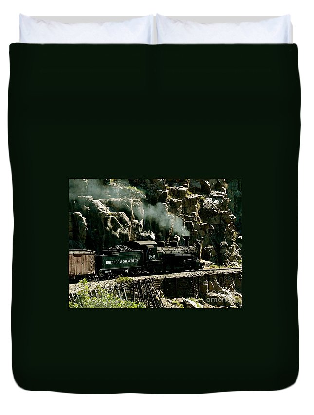 Geology Duvet Cover featuring the photograph Silverton Steam Locomotive by Rincon Road Photography By Ben Petersen