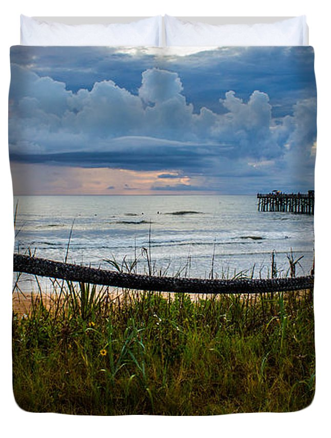 Duvet Cover featuring the photograph Simple Flager by Tyson Kinnison