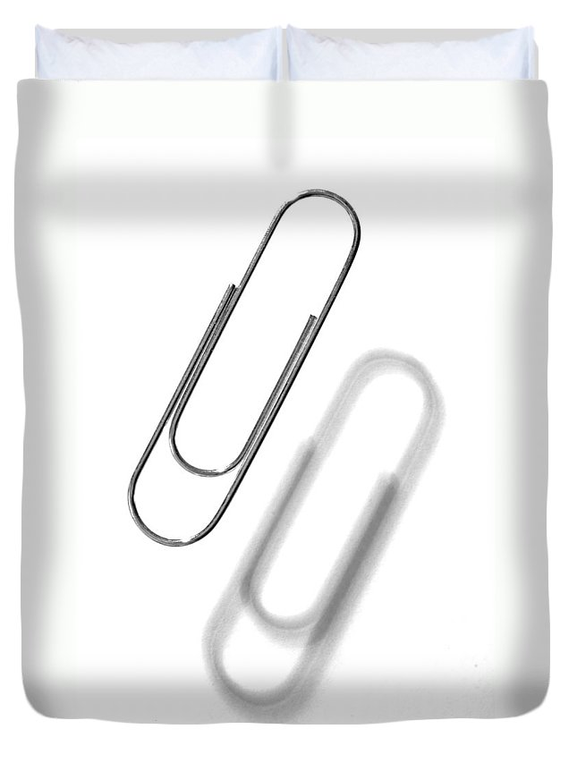 Paper Clip Duvet Cover featuring the photograph Simple Genius Paperclip 1 by Scott Campbell
