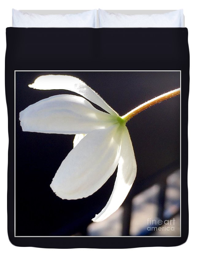Simply Alone Flower Duvet Cover featuring the photograph Simply Alone Flower by Susan Garren