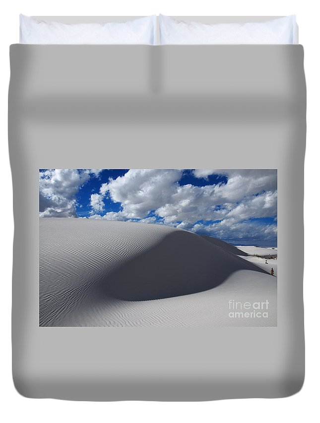 White Sands Duvet Cover featuring the photograph Simply Enchanted by Vivian Christopher