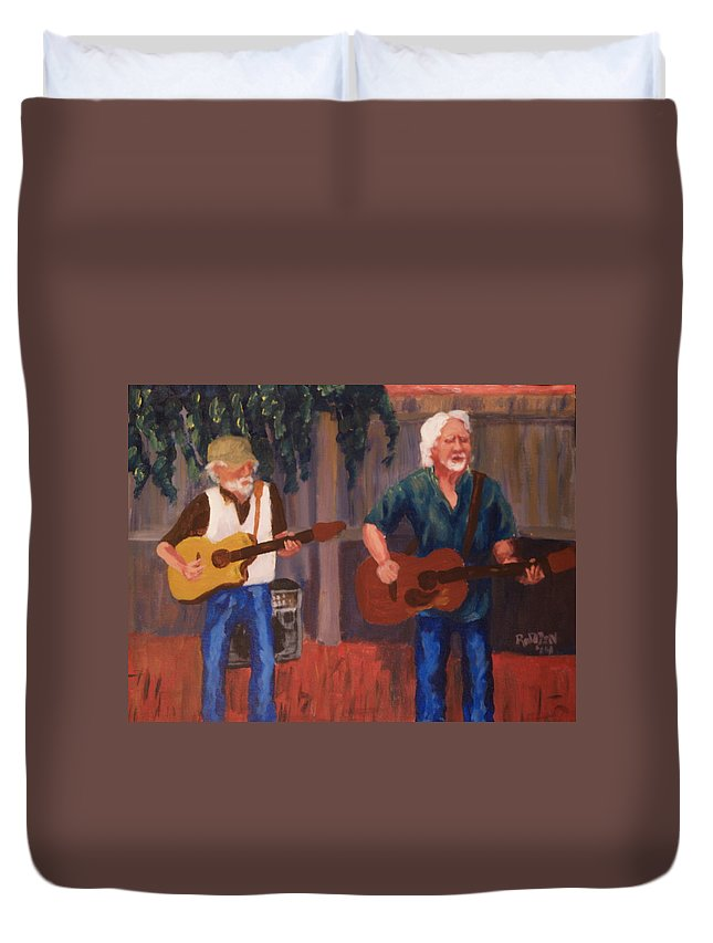 Duvet Cover featuring the painting Singing For The Angels by David Rodden