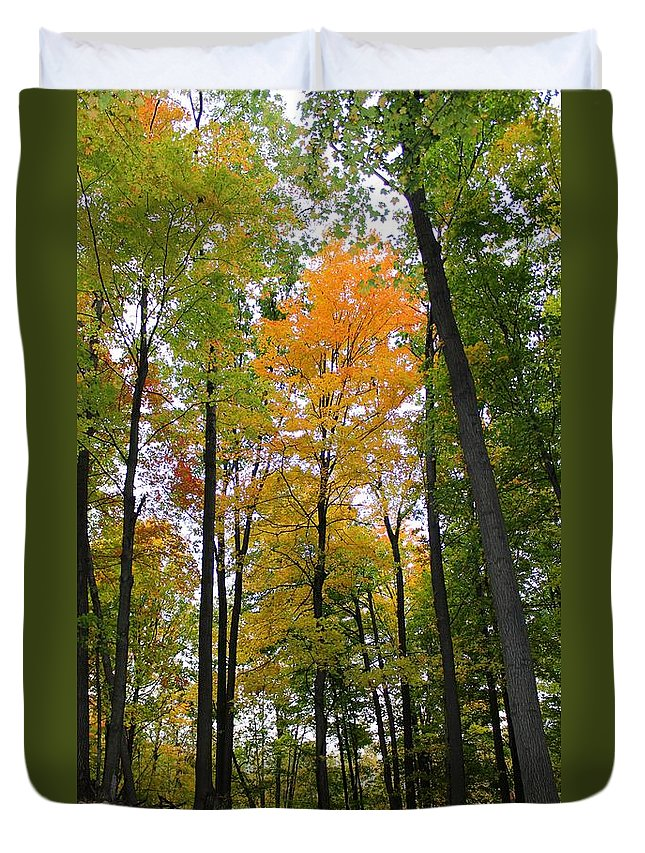 Fall Duvet Cover featuring the photograph Singled Out by Stephanie Kripa