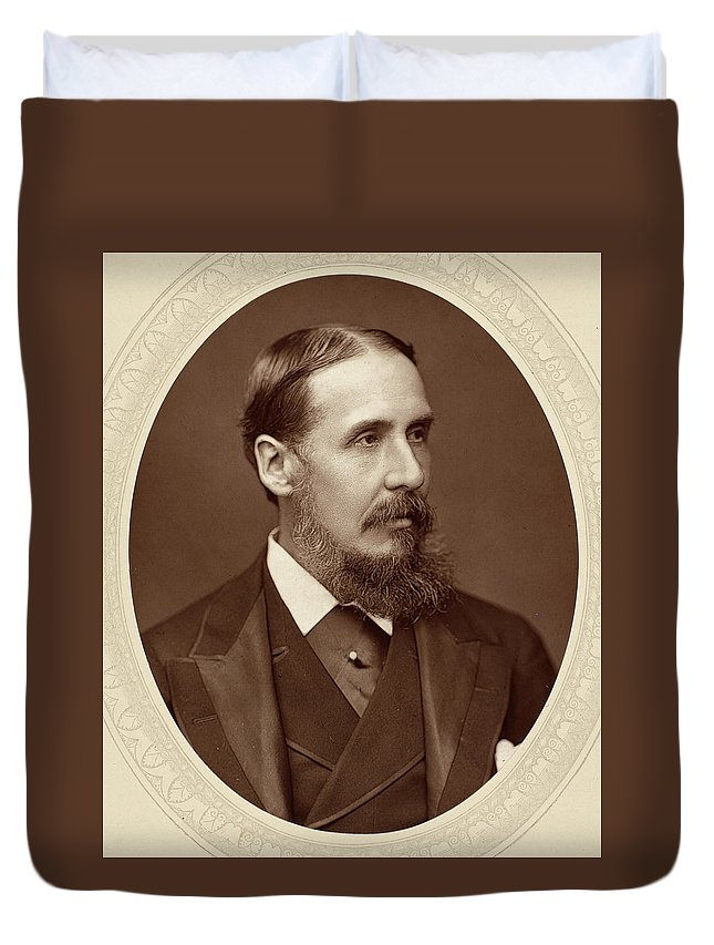 1880 Duvet Cover featuring the photograph Sir Charles R by Granger