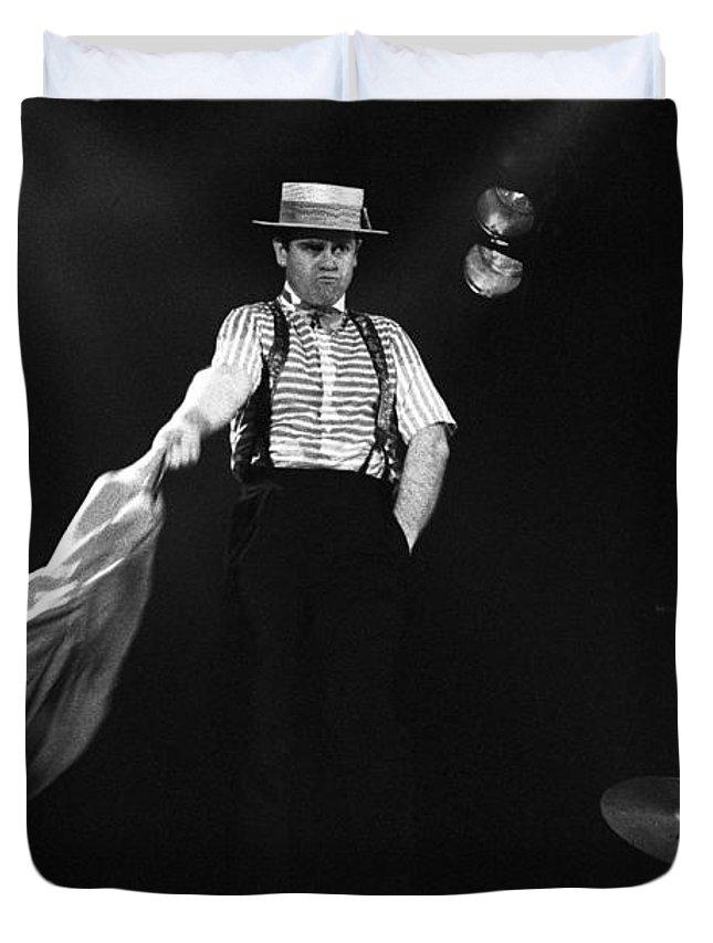 Elton John Duvet Cover featuring the photograph Sir Elton John by Dragan Kudjerski