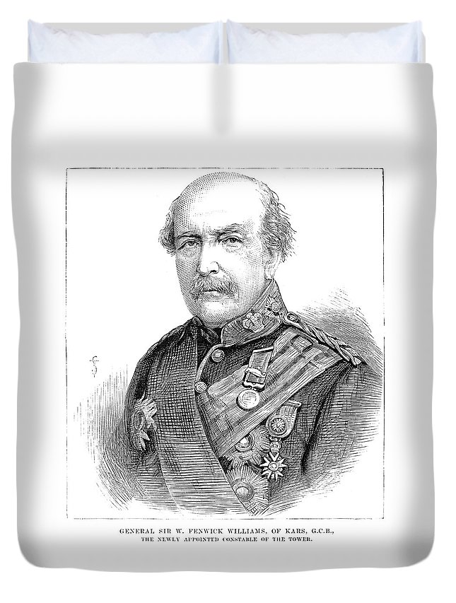 1881 Duvet Cover featuring the painting Sir William Williams (1800-1883) by Granger
