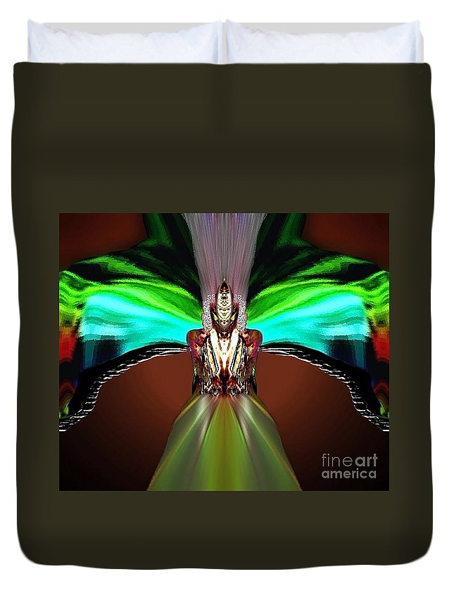 Angel Duvet Cover featuring the digital art Sitael by Raymel Garcia
