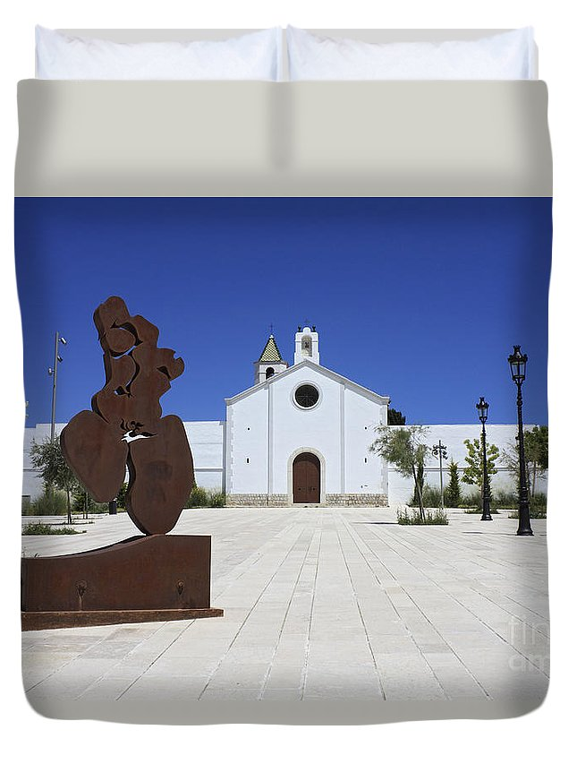 Spain Duvet Cover featuring the photograph Sitges Spain by Julia Gavin