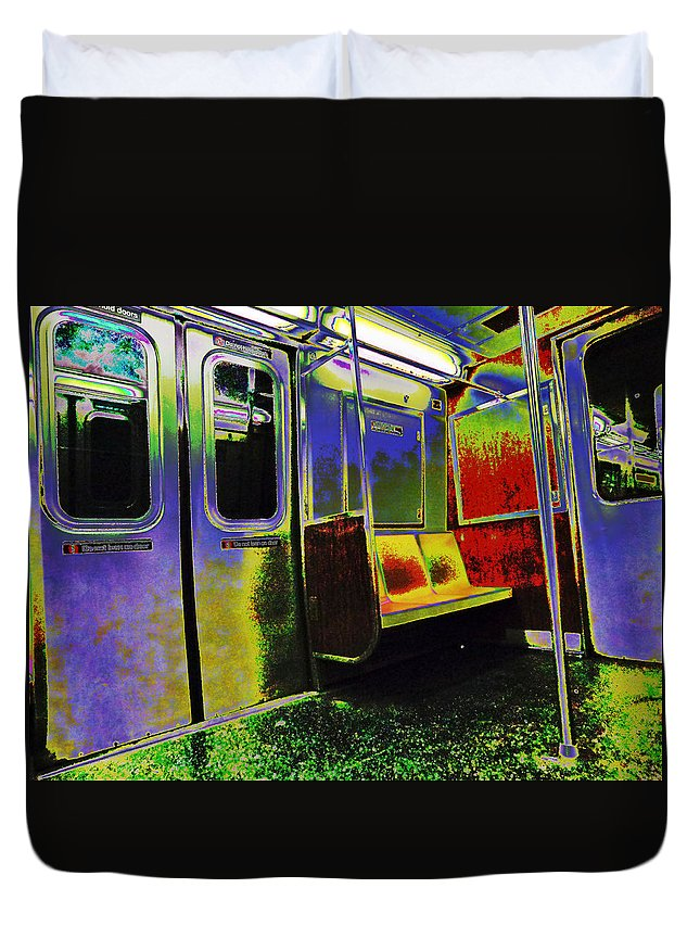City Duvet Cover featuring the photograph Sitting Pretty by Art Dingo