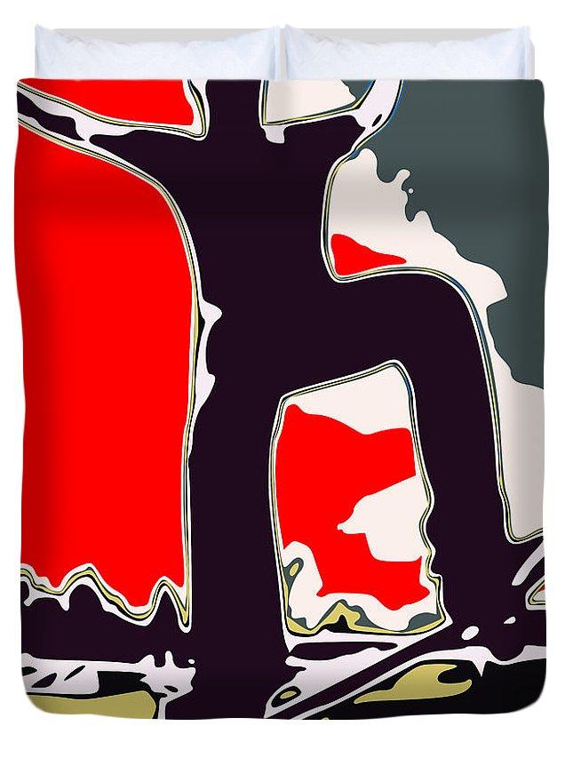Skateboard Duvet Cover featuring the digital art Skateboarder by Chris Butler