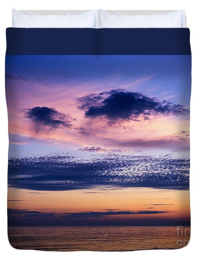 Dorset Duvet Cover featuring the photograph Sky After Sunset by Lana Enderle