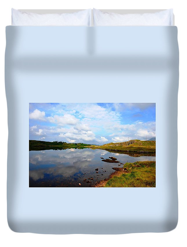 Clouds Duvet Cover featuring the photograph Sky Blue by Charlie and Norma Brock