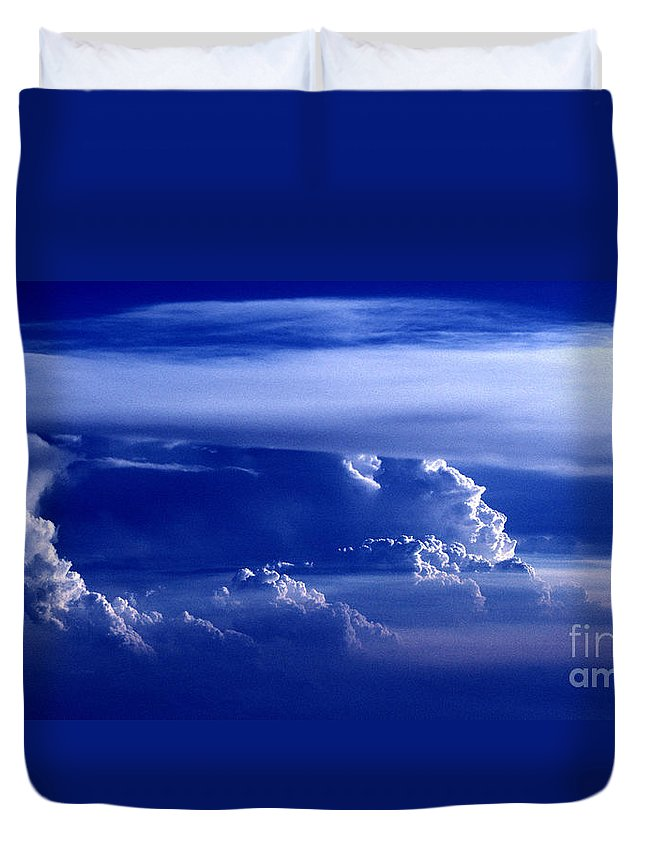 Sky Duvet Cover featuring the photograph Sky From Above - 5026 by Paul W Faust - Impressions of Light