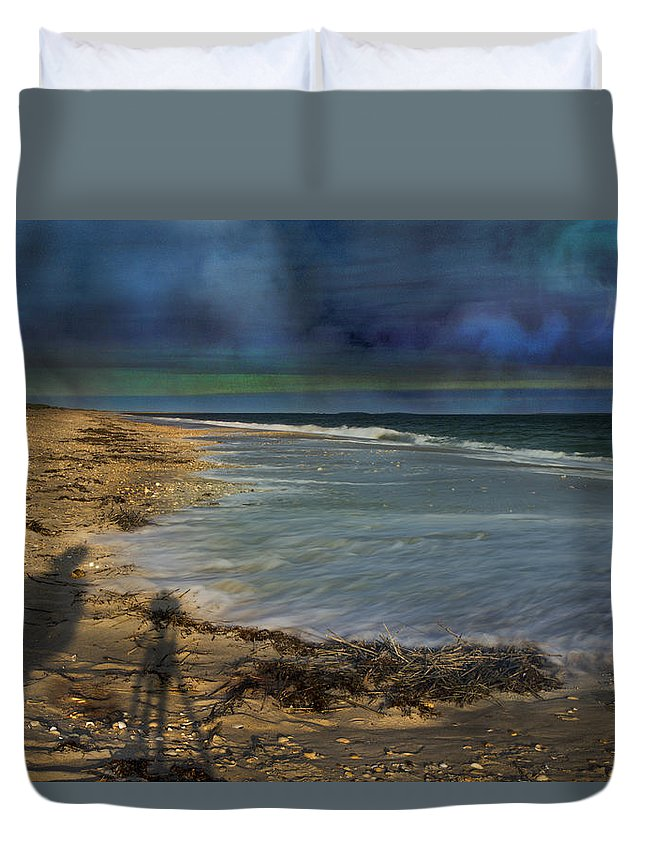 Coast Duvet Cover featuring the photograph Sky Life by Betsy Knapp