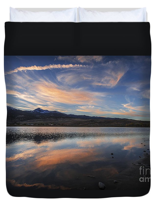 Sky Duvet Cover featuring the photograph Sky Painting by Dianne Phelps