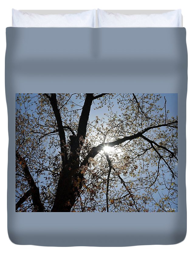 Skylight Duvet Cover featuring the photograph Skylight by Maria Urso