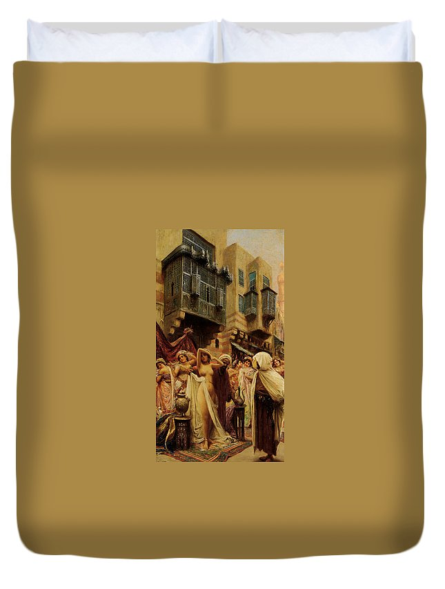 Slave Auction Duvet Cover featuring the digital art Slave Auction by Fabbio Fabbi