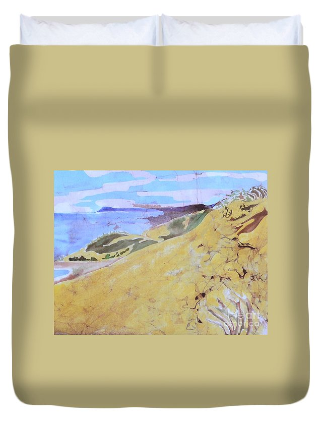 Sleeping Bear Duvet Cover featuring the tapestry - textile Sleeping Bear Dunes by Kate Ford
