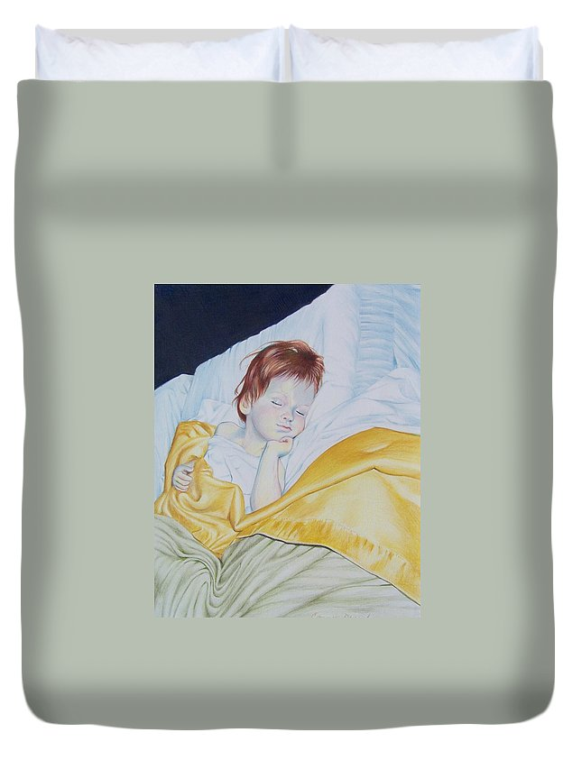 Baby Duvet Cover featuring the mixed media Sleeping Beauty by Constance Drescher