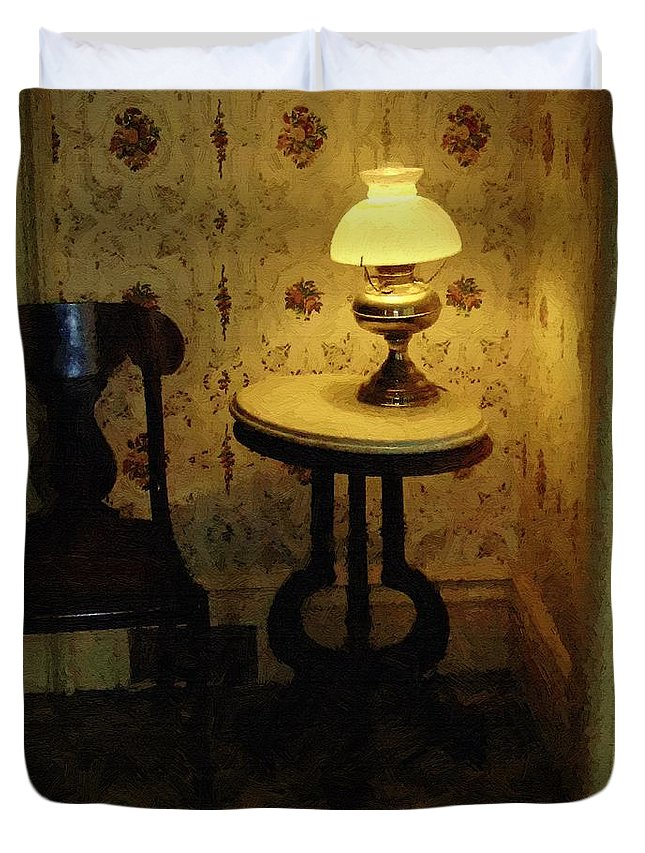 Antiques Duvet Cover featuring the painting Slightly Tipsy by RC DeWinter