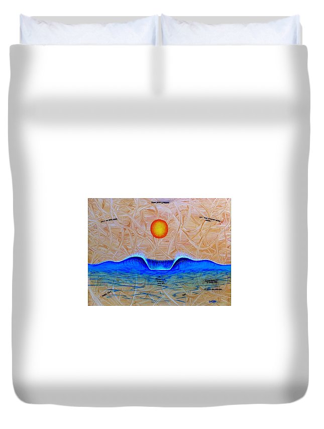 Positiveart Duvet Cover featuring the painting Slow Down And Breathe by Paul Carter