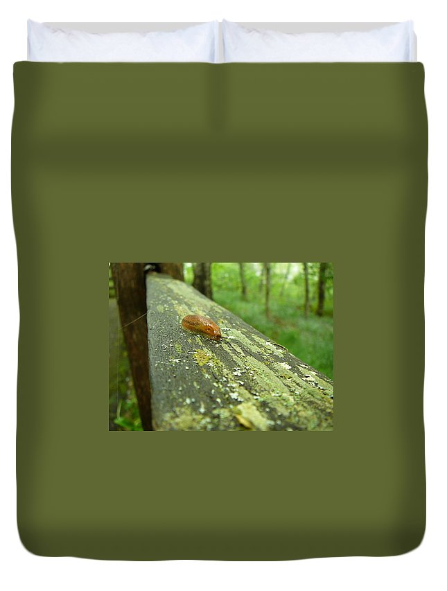 Upper Peninsula Duvet Cover featuring the photograph Slug Life by Two Bridges North