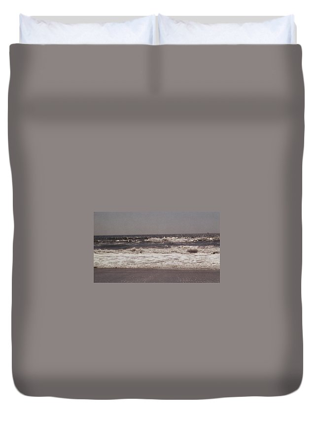 Painting Duvet Cover featuring the photograph Small Waves by Judy Gerstner