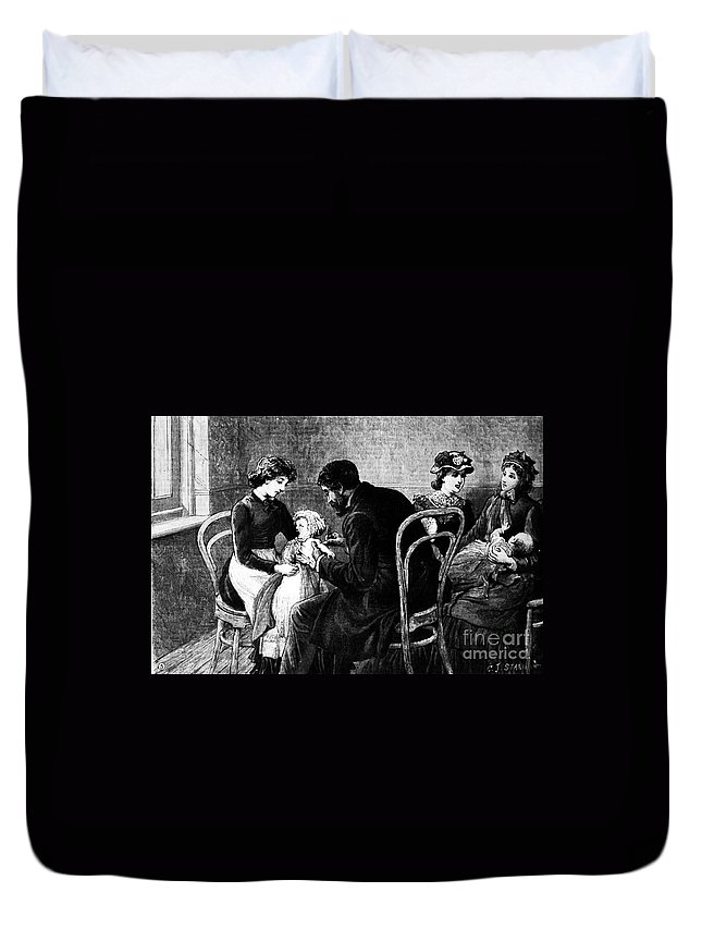 1883 Duvet Cover featuring the photograph Smallpox Vaccination, 1883 by Granger
