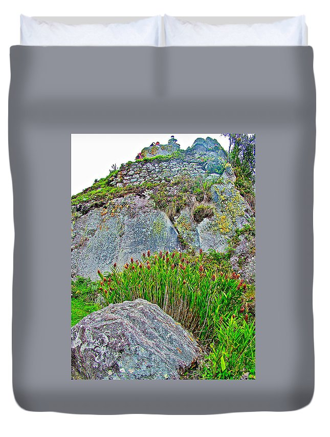 Smartweed Just Below Huayna Picchu's Peak Duvet Cover featuring the photograph Smartweed Just Below Huayna Picchu's Peak-peru by Ruth Hager