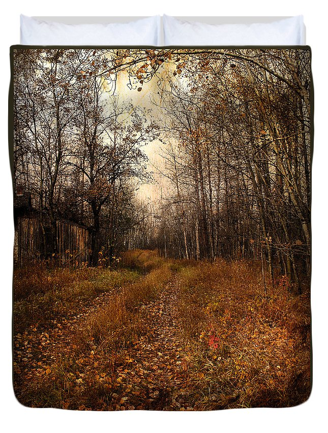 Woods Duvet Cover featuring the photograph Smell Of Country by The Artist Project