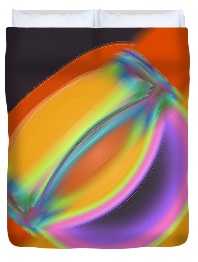 Smile Duvet Cover featuring the digital art Smile by Dee Flouton