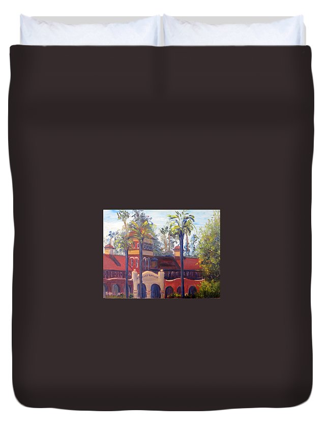 Smiley Library Duvet Cover featuring the painting Smiley Library Too by Terry Chacon