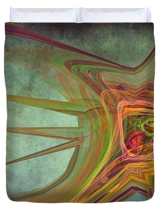 Snail Duvet Cover featuring the digital art Snail In The 30th Century by Angela Stanton