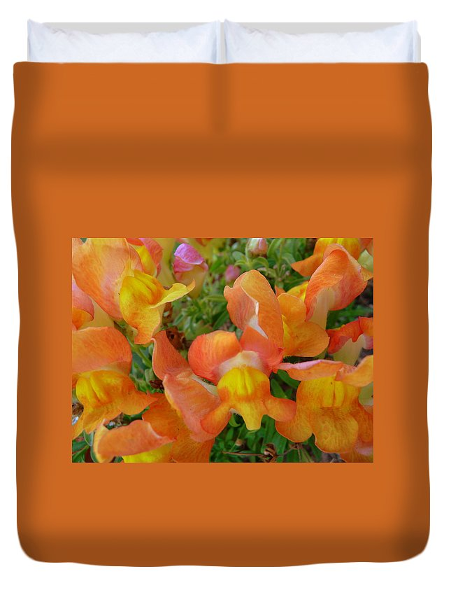 Snapdragon Duvet Cover featuring the photograph Snapdragons by Jackie Austin