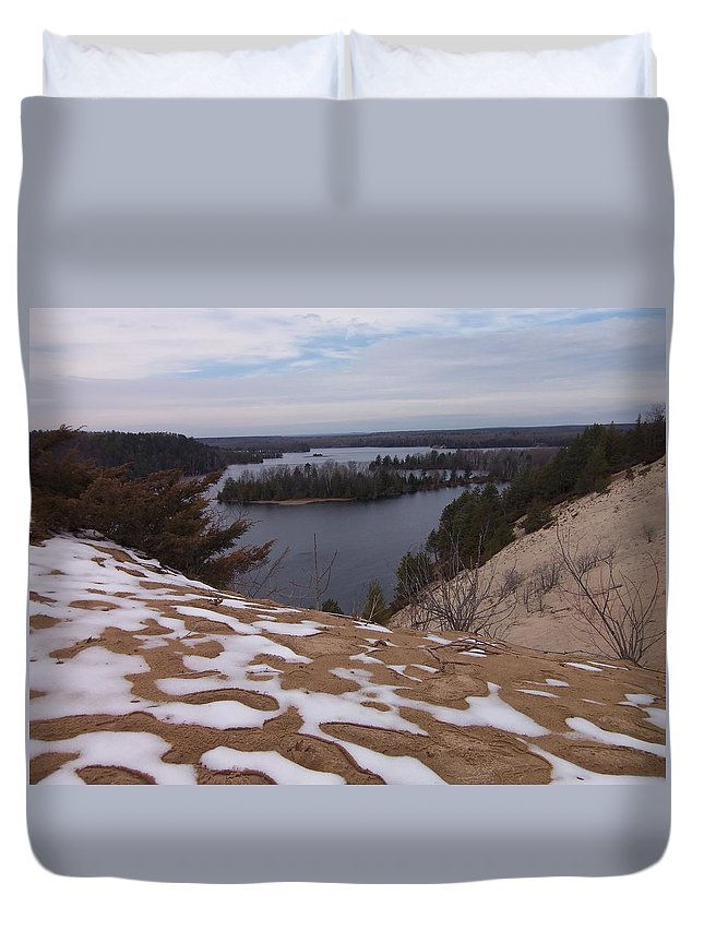 Snow Duvet Cover featuring the photograph Snow Dunes by Two Bridges North