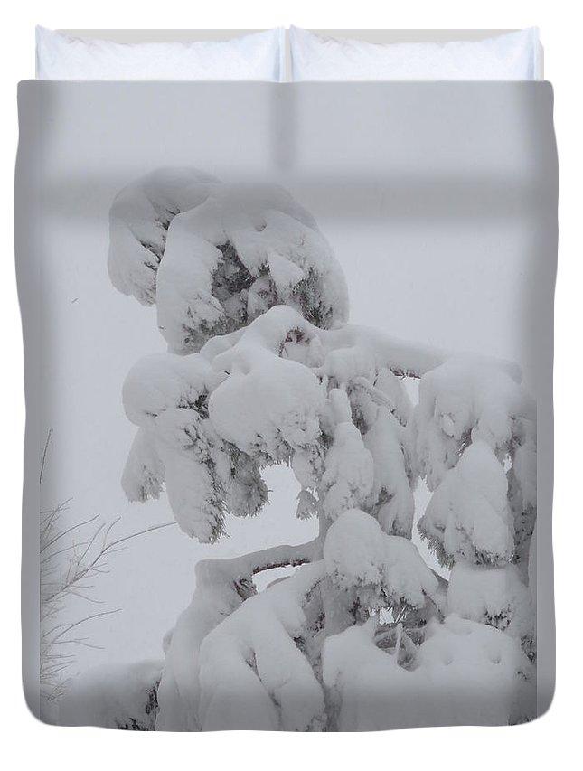 Photograph Duvet Cover featuring the photograph Snow Goon by Martin Bellmann
