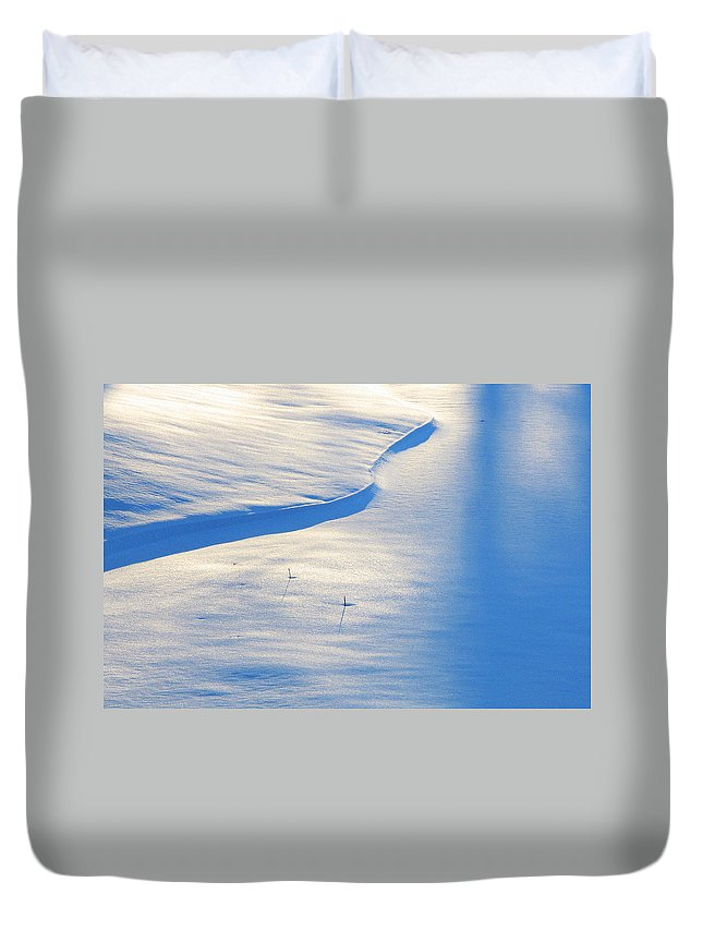 Snow Duvet Cover featuring the photograph Snow Sunlight And Shadows by Greg Matchick
