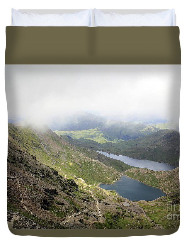 Snowdonia Wales Duvet Cover featuring the photograph Snowdonia Wales by Julia Gavin
