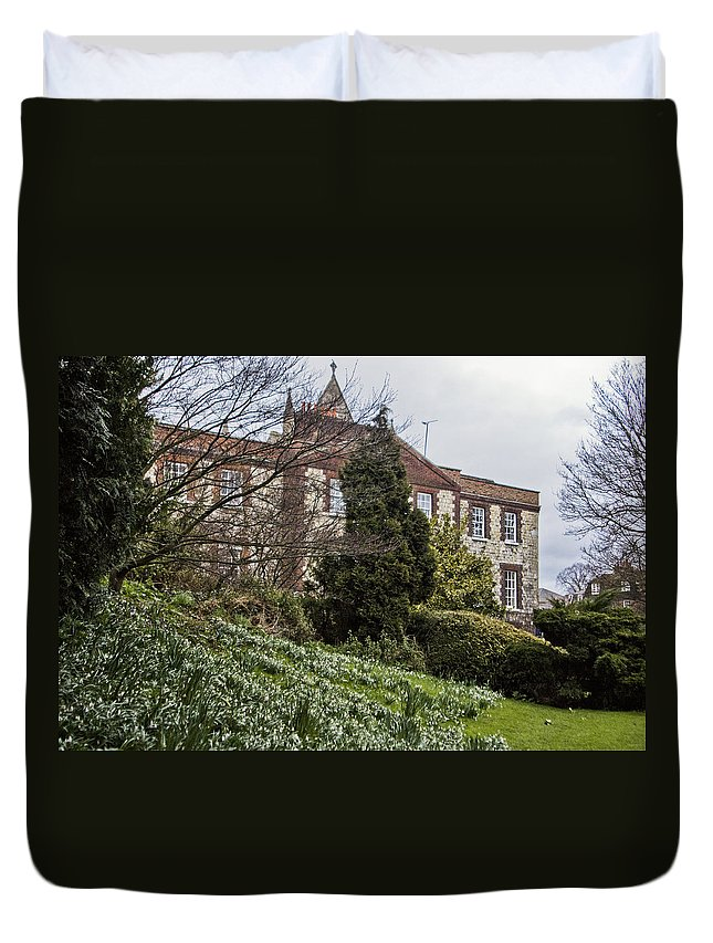 Snowdrops Duvet Cover featuring the photograph Snowdrops by Dawn OConnor